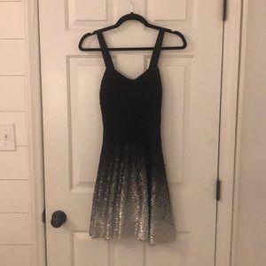 Free People Black & Silver Ombré dress